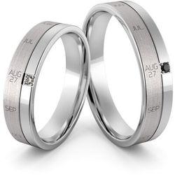 Obrączki ślubne z datą ślubu - au-1151