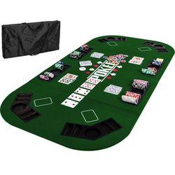 Zielony blat stół do pokera 160x80 cm poker kasyno marki Mks