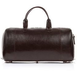 Elegancka torba podróżna skórzana brødrene r30 ciemny brąz