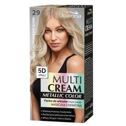 multi cream metallic color farba do włosów 29 bardzo jasny śnieżny blond marki Joanna