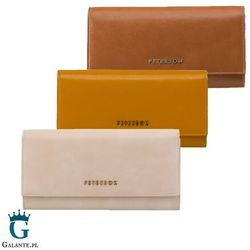 Duży skórzany portfel damski różne kolory peterson pl467 rfid