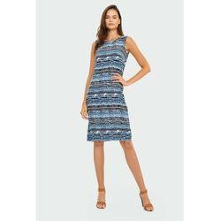 Greenpoint Wiskozowa sukienka z nadrukiem 8k40dn