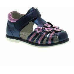 Sandały dla dziewczynki Wojtyłko 41021 Granatowe